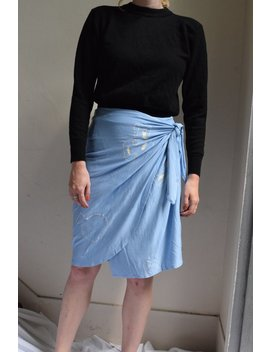 Lucia Cornflower Wrap Skirt  |  Print Optional by Etsy