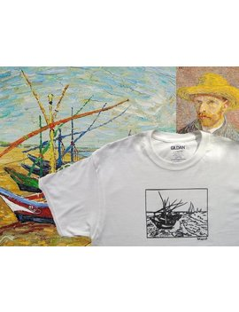Vincent Van Gogh Fishing Boats by Etsy