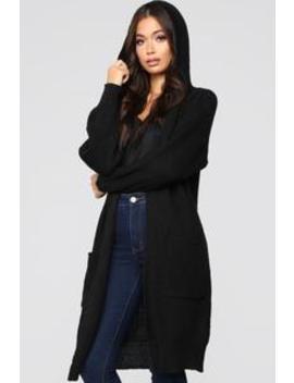 Can't You See Cardigan   Black by Fashion Nova