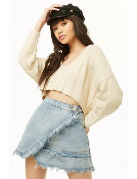 Frayed Wrap Mini Skirt by Forever 21