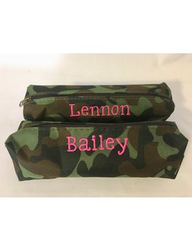 Personalized Small Camouflage Pencil Case   Monogrammed Pencil Case   Monogrammed Makeup Bag   Back To School Gift   Camo Case For Kids by Etsy
