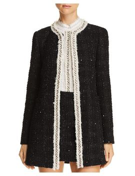 Andreas Embellished Metallic Plaid Jacket by Alice And Olivia