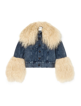 Jocelyn Shearling Trimmed Denim Jacket by Sea