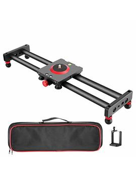 Neewer Camera Slider Carbon Fiber Dolly Rail, 16 Inches/40 Centimeters With 4 Bearings For Smartphone Nikon Canon Sony Camera 12lbs Loading by Neewer