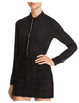 Willa Embellished Silk Blouse by Alice And Olivia