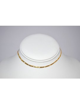 Gold Figaro Chain Choker by Etsy