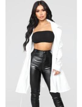 Spontaneous Thoughts Jacket   White by Fashion Nova