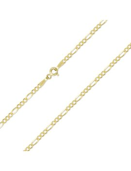 "10 K Solid Yellow Gold Custom Figaro Choker Necklace Chain 1.5 3.0mm 11 15""   Polished Link by Etsy"