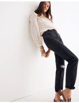 The Tall Perfect Vintage Jean In Roxstone Wash: Knee Rip Edition by Madewell