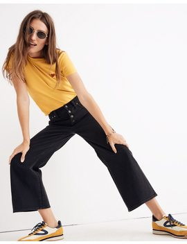 Tall Wide Leg Crop Jeans In Lunar Wash: Button Front Edition by Madewell