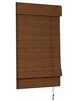 Radiance Cape Cod Bamboo Roman Shade With Valance, 27 Inch Wide By 72 Inch Long, Maple, 0216202 by Radiance
