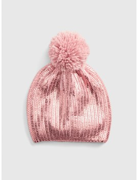 Shine Pom Beanie by Gap