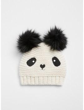 Panda Pom Beanie by Gap