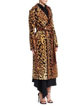 Chenille Jacquard Split Sleeve Trench Coat by Victoria Beckham