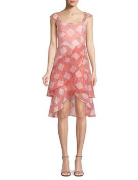 Azura Waterfall High Low Ruffle Dress by Alice + Olivia