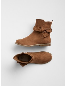 Knot Tie Ankle Boots by Gap