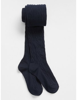 Cable Knit Tights by Gap