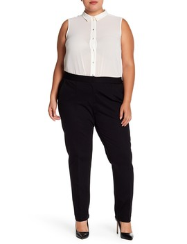 Comfort Waist Narrow Leg Ponte Pant (Plus Size) by Amanda & Chelsea