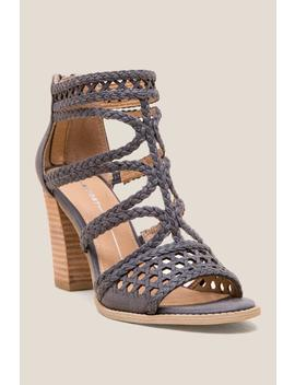 Report Reeve Braided Strap Heel by Francesca's