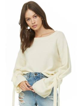 Ribbed Self Tie Sweater by Forever 21