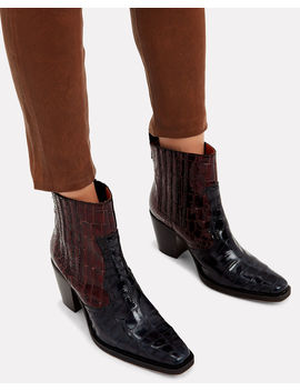 Callie Two Tone Boots by Ganni