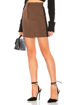 Side Stripe Houndstooth Mini Skirt by J.O.A.