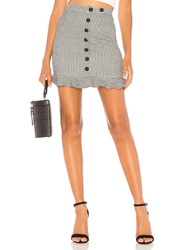 Loren Button Mini Skirt by About Us