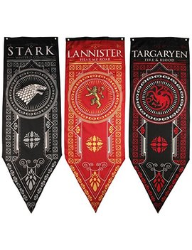 Game Of Thrones House Banner 3pk, House Stark, Targaryen, Lannister by Game Of Thrones