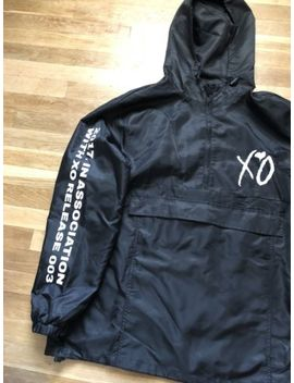 Xo The Weeknd Sponsored Pullover Jacket Twfm Men's Size Xl Black Official Merch by Ebay Seller