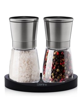 Sterline Premium Salt And Pepper Mill Manual Grinder Set Stainless Steel by Sterline