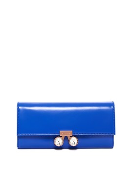 Eleni Crystal Bobble Lock Leather Matinee Wallet by Ted Baker London
