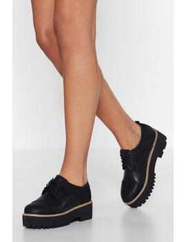 Up To The Challenge Platform Brogue by Nasty Gal