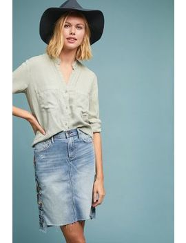 Driftwood Skylar Embroidered Denim Skirt by Driftwood