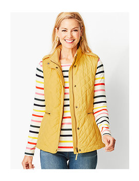 Quilted Fleece Lined Vest by Talbots
