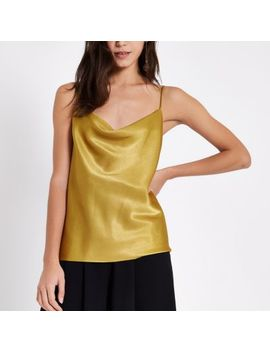 Yellow Cowl Neck Cami Top by River Island