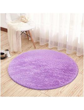 Noahas 4 Feet Luxury Round Area Rugs Super Soft Living Room Bedroom Carpet Woman Yoga Mat, Purple by Noahas