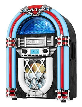 Victrola Retro Desktop Jukebox With Cd Player, Fm Radio, Bluetooth, And Color Changing Led Lights, 15 Inch Tall by It.Innovative Technology