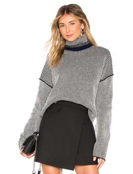 Oversized Stripe Sweater by Theory