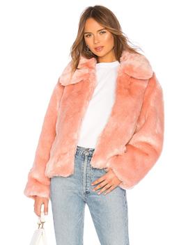 Boxy Faux Fur Coat by Pam & Gela
