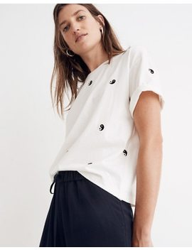 Embroidered Yin Yang Easy Crop Tee by Madewell