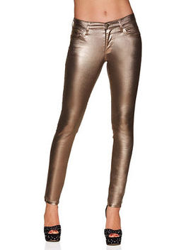 Metallic Coated Skinny Jean by Boston Proper