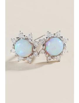Zinnia Opal Starburst Stud Earrings by Francesca's