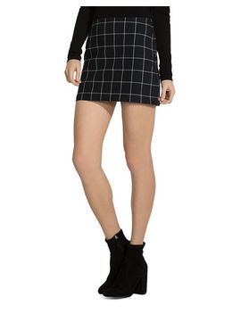 Alexei Windowpane Mini Skirt by Bailey 44