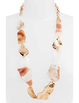 Mixed Shape Long Link Necklace by Stella + Ruby