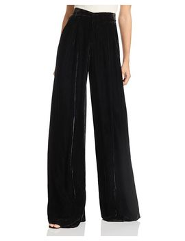 Wide Leg Velvet Pants by Badgley Mischka