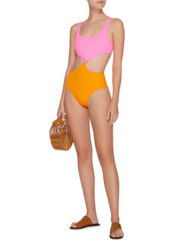 Bailey Knotted Color Block One Piece by Solid & Striped