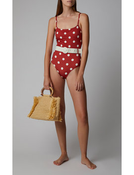 Nina Belted Polka Dot One Piece Swimsuit by Solid & Striped