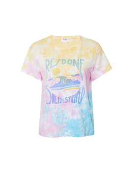 + Re/Done Venice Tie Dye Stretch Jersey Top by Solid & Striped