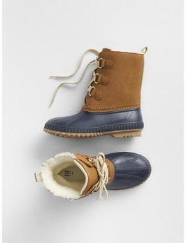 Lace Up Duck Boots by Gap