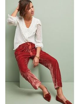 Nicola Velvet Pants by Birds Of Paradis By Trovata